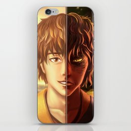 Two Sides Of One Fire iPhone Skin