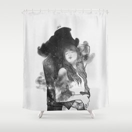 Let me feel you around. Shower Curtain