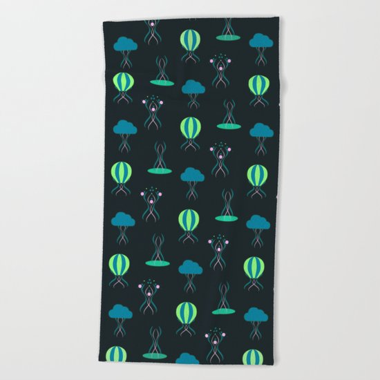 Bioluminescence Beach Towel