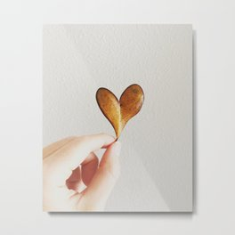 Perfect heart by nature leaf Metal Print