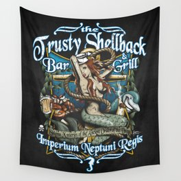 Trusty Shellback Bar & Grill Mermaid Wall Tapestry