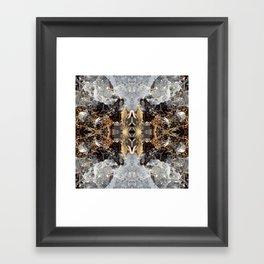 Diamond Ice Frozen Autumn - Debra Cortese photo art Framed Art Print