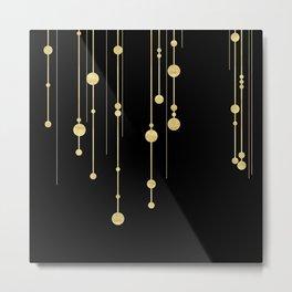 Black and Gold Metal Print
