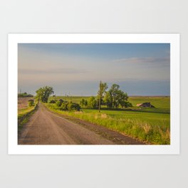 Country Road, North Dakota 23 Art Print