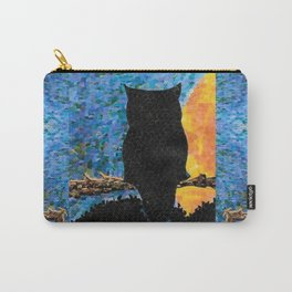 Owl At Peace Carry-All Pouch