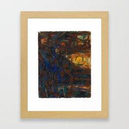 Christian Rohlfs, Mond, Baume, Berge Framed Art Print