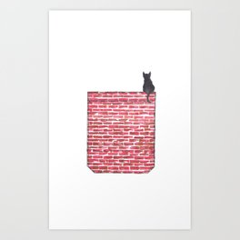 Cat Your Own Space Art Print