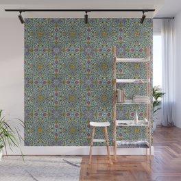 Fruits and Veggies - cute healthy food pattern Wall Mural