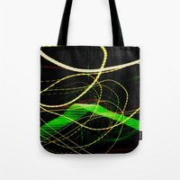sonic Tote Bags featuring Sonic Waves by Jonathan Wright Productions