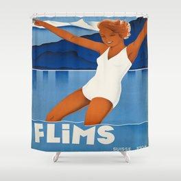 Vintage poster - Switzerland Shower Curtain