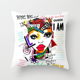ARTFIRMATION COLLECTION - BEAUTY Throw Pillow