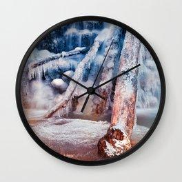 Frozen Avalon Fantasy Falls Wall Clock