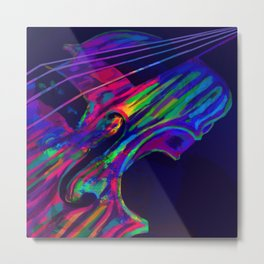 Neon Viola Pride Metal Print