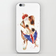 LONDON - Jack Russell Art - Union Jack iPhone & iPod Skin