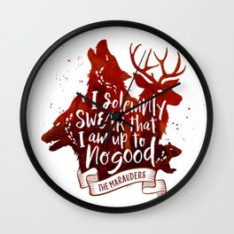I solemnly swear - white Wall Clock