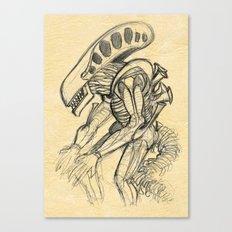 ALIEN2 SKETCH Canvas Print