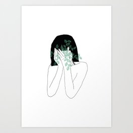 A little bit dissapointed in humanity / Illustration Art Print