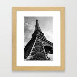 Eiffel in greyscale Framed Art Print