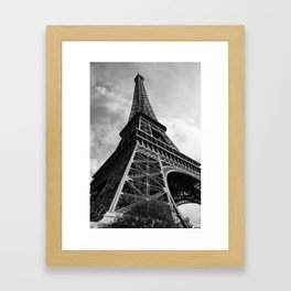 Eiffel in greyscale Framed Art Print