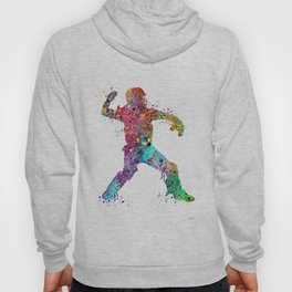Baseball Softball Catcher 3 Art Sports Poster Hoody