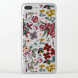 Floral Inspiration Clear iPhone Case
