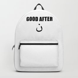 Good After Noon design Arabic Letters Funny Arab graphic Backpack