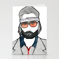 tenenbaum Stationery Cards featuring Richie Tenenbaum by daniel davidson