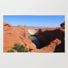 Glen Canyon Dam And Colorado River Rug