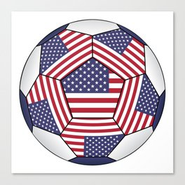 Ball with United States flag Canvas Print