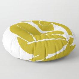 Matisse Cut Out Figure #3 Mustard Yellow Floor Pillow