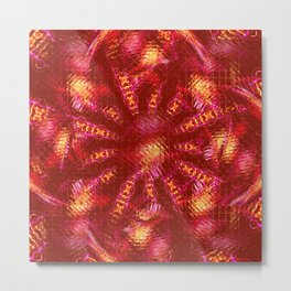 Abstract Shimmer Me Russet Metal Print