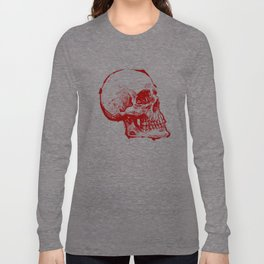 RED INK SKULL Long Sleeve T-shirt