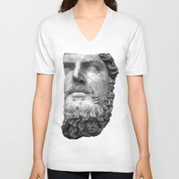 greek V-neck T-shirts featuring greek by bobbybard