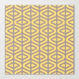 Mid Century Modern Split Triangle Pattern Gray and Yellow 2 Canvas Print