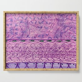 Purple Doodle Serving Tray