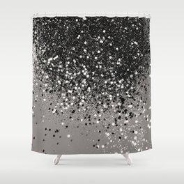Silver Gray Glitter 1 Shiny Decor Art Society6 Shower Curtain