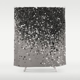 Silver Gray Glitter #1 #shiny #decor #art #society6 Duschvorhang