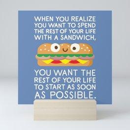 When Harry Met Sandwich Mini Art Print