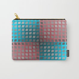 Rainbow Squares Victor Vasarely Style 4 Carry-All Pouch