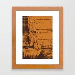 Trigger - Acoustic Guitar - Willie Nelson Framed Art Print