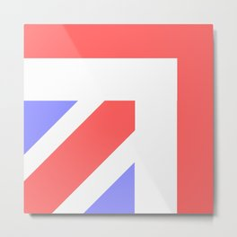 Union Jack Close Up Metal Print