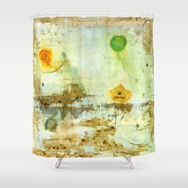 Drifting, Abstract Landscape Art Painting Shower Curtain