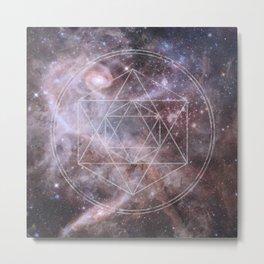 Sacred Geometry Universe Metal Print