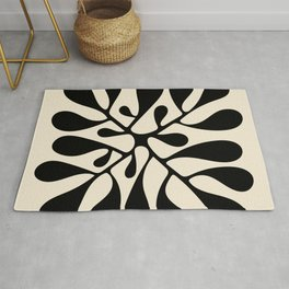 Matisse Inspired Abstract Cut Outs black Rug