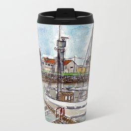 The Harbour, Figueira Da Foz, Portugal Travel Mug