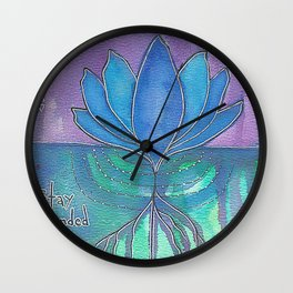 Stay Grounded Wall Clock