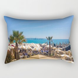 Lunch At The Carlton Pier In Cannes Rectangular Pillow
