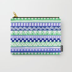 Blue Green Purple Pattern Carry-All Pouch