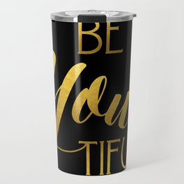 BeYoutiful Gold Foil Travel Mug