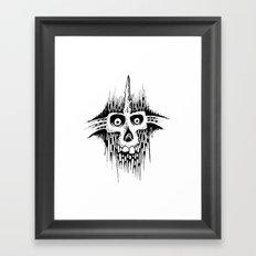 Skully Line Framed Art Print